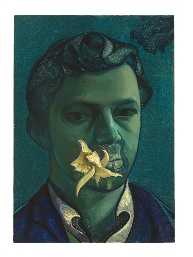 Victor Man, Self-Portrait at Father's Death