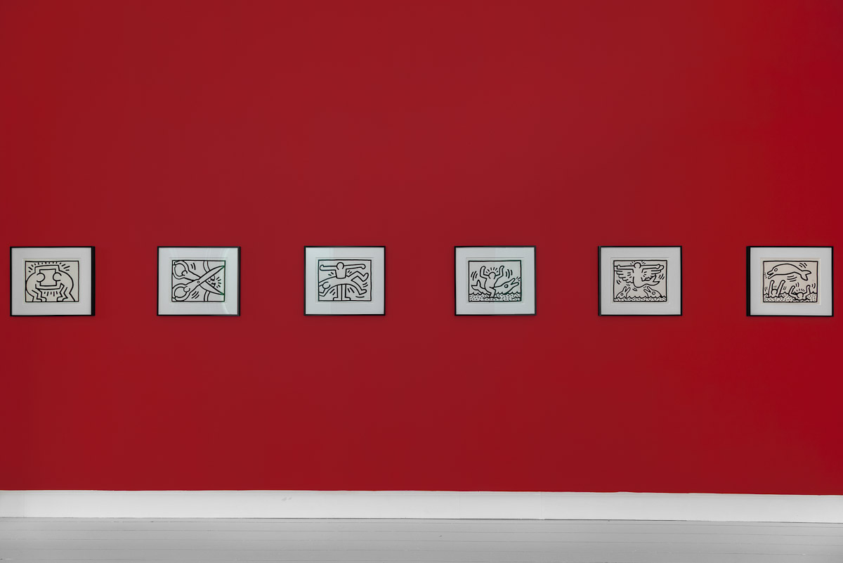 Installation view: Keith Haring: Pop Shop Drawings