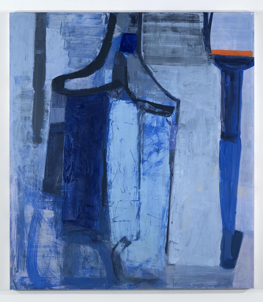 Amy Sillman, 3-Legged (Blue)