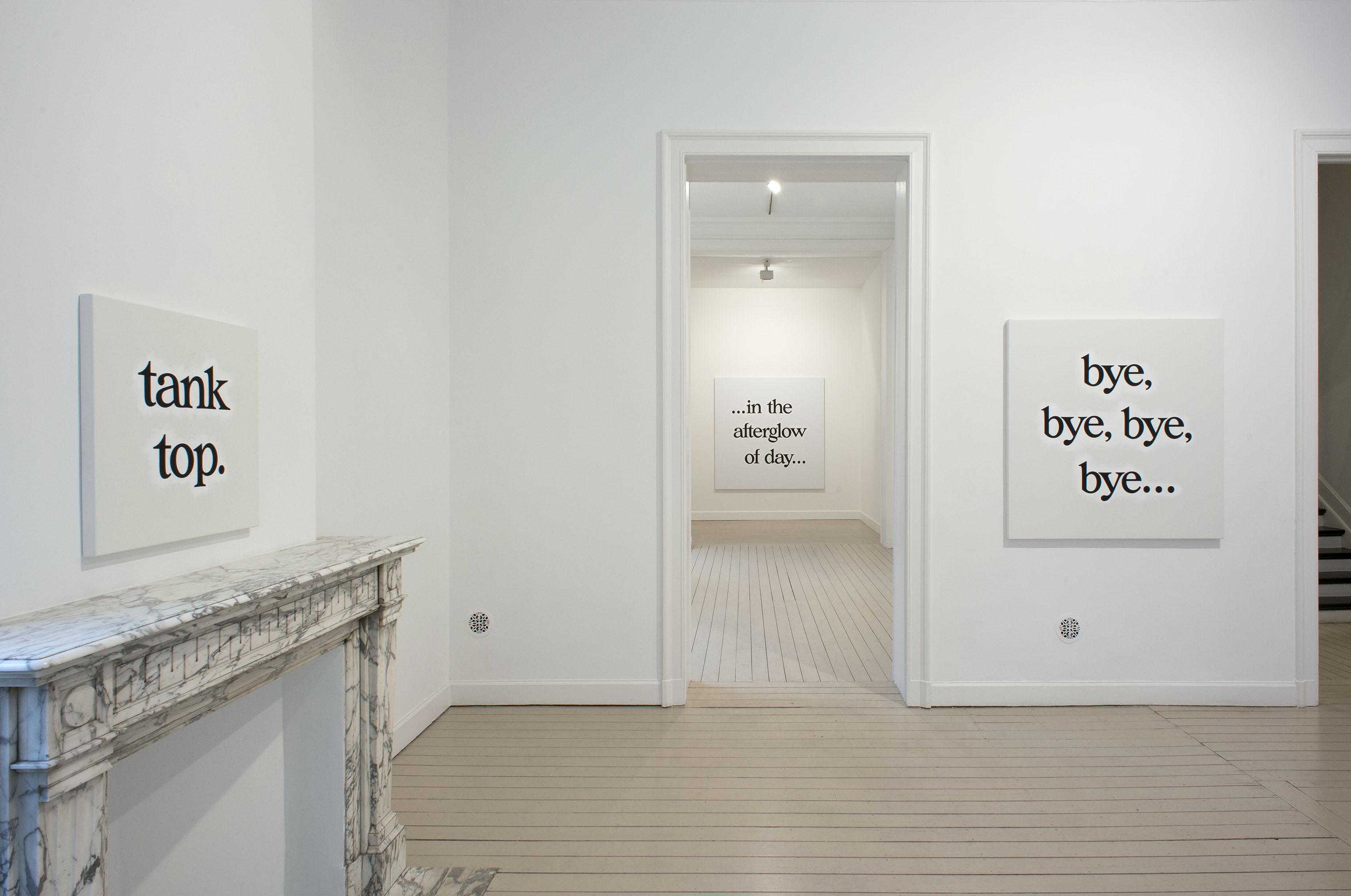 Ricci Albenda, Installation view