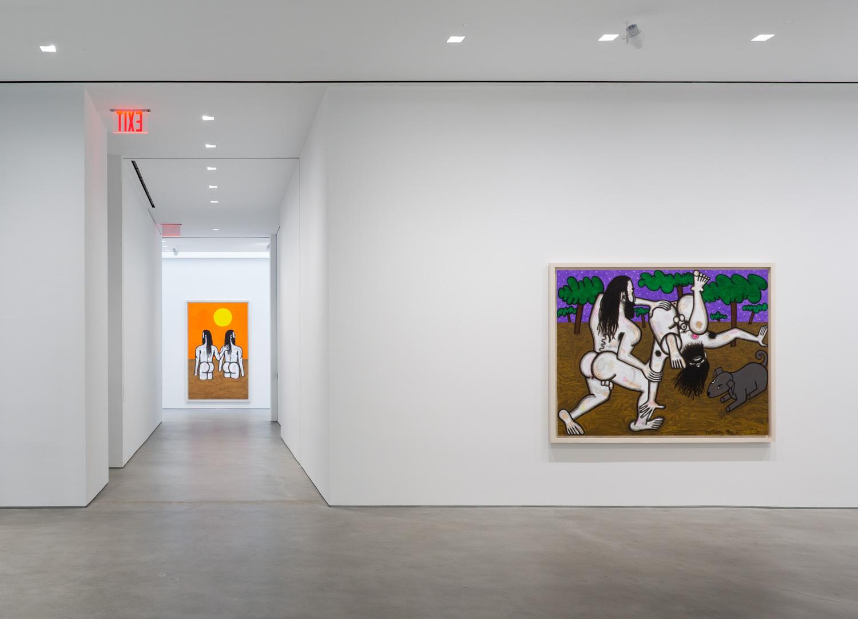 Carroll Dunham , Installation view