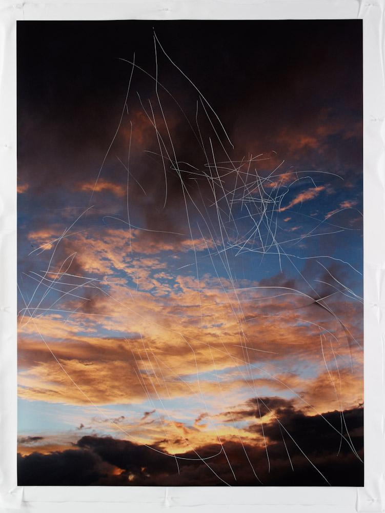Jim Hodges, Untitled (scratched sky, I)