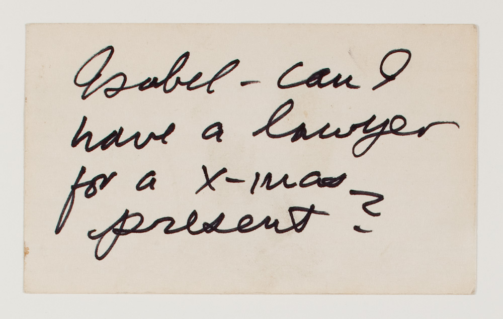 Jack Smith Archive, Untitled (thoughts/sayings)
