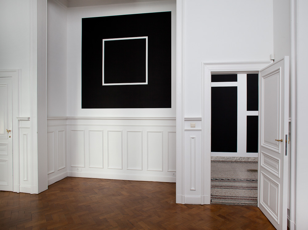 Sol Lewitt, Wall Drawing 792, Black rectangles and squares