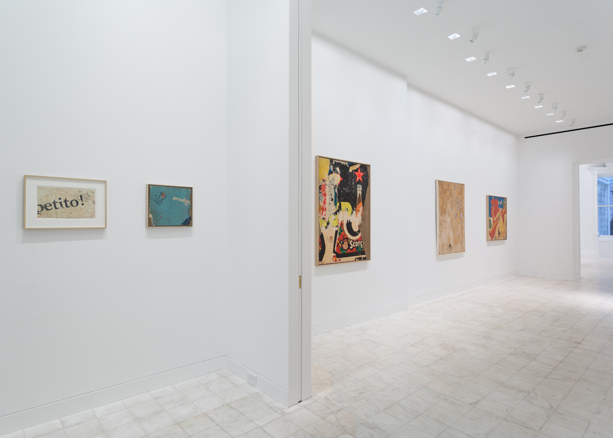Mimmo Rotella, Installation view