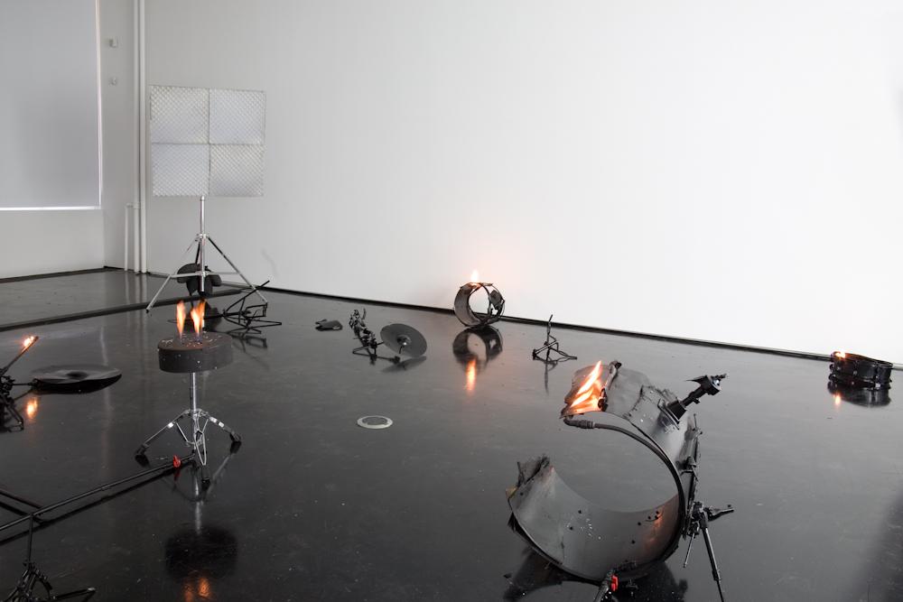 Banks Violette, Not yet titled (proposal for a burning drum kit)