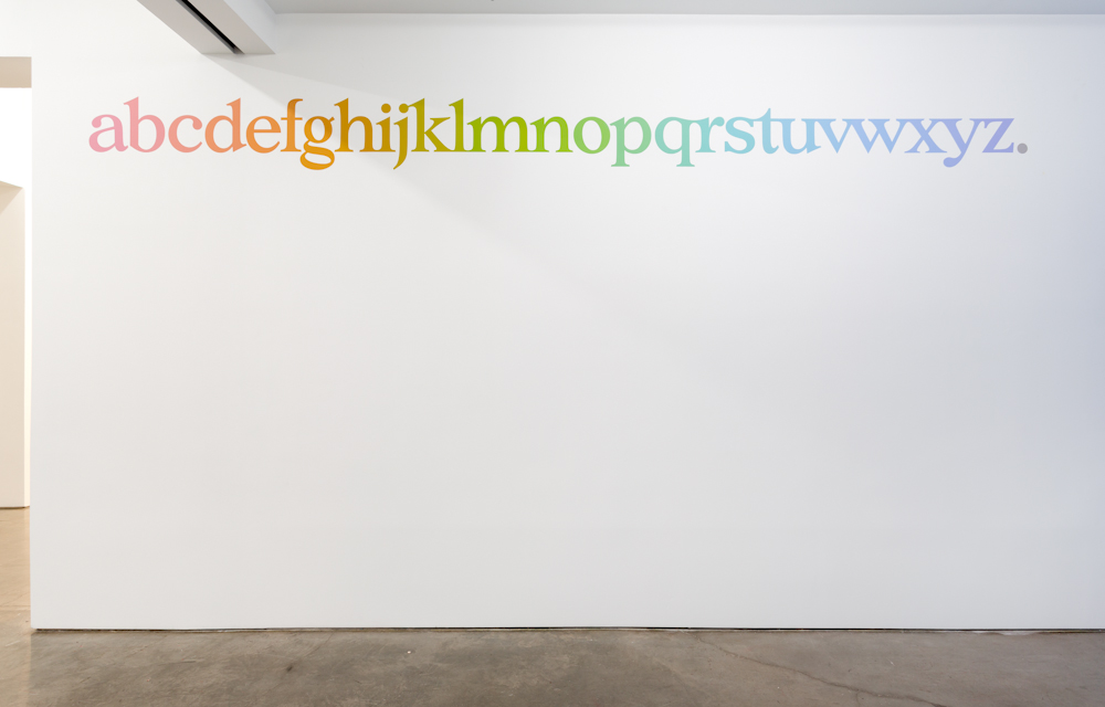 Ricci Albenda, connected alphabet (from Universal Color)