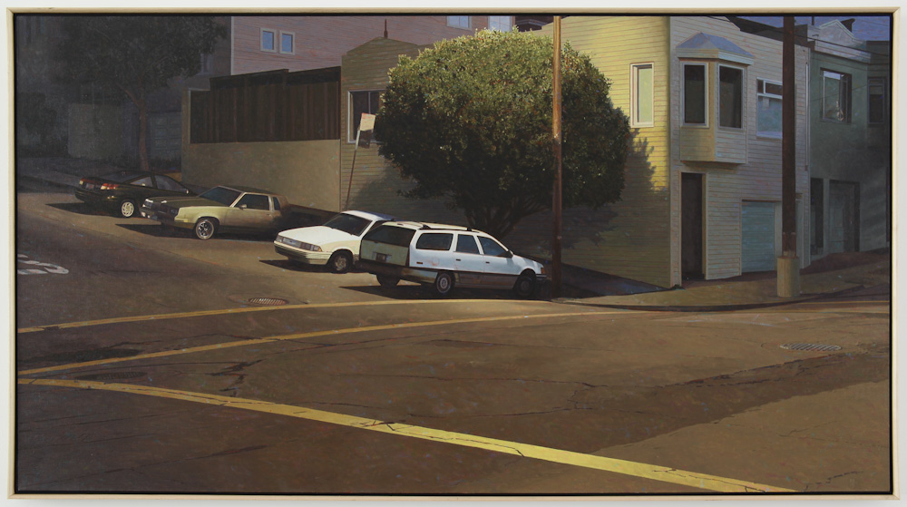 Robert Bechtle, Four Cars on Texas Street