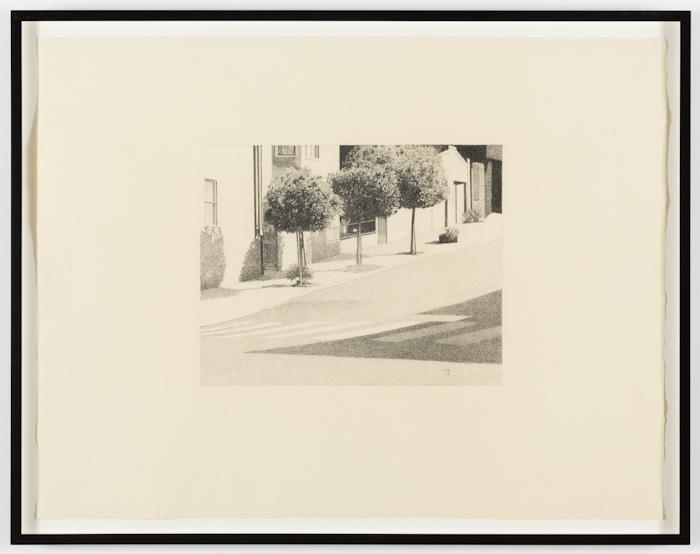 Robert Bechtle, Three Trees on Nineteenth Street