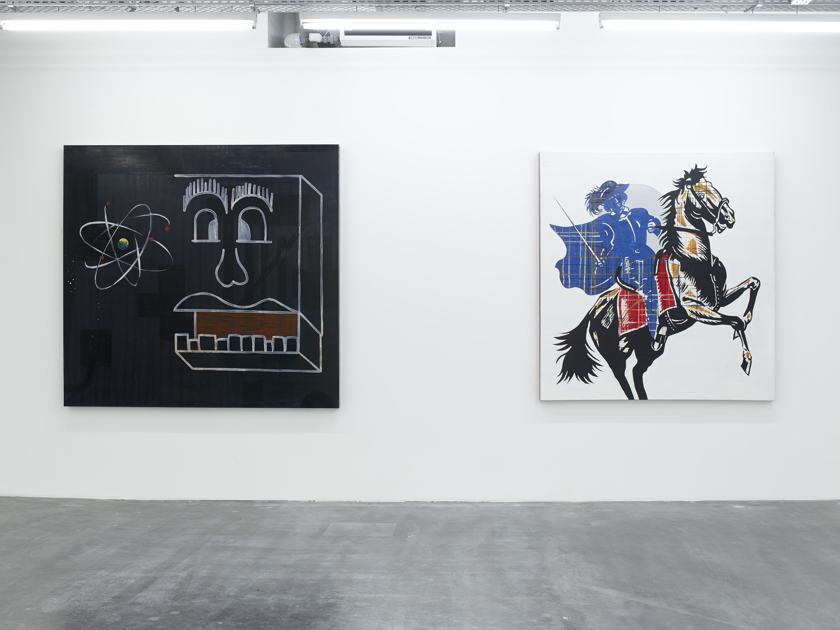 Walter Swennen, Aton, 1998 and Super blaue reiter, 1998