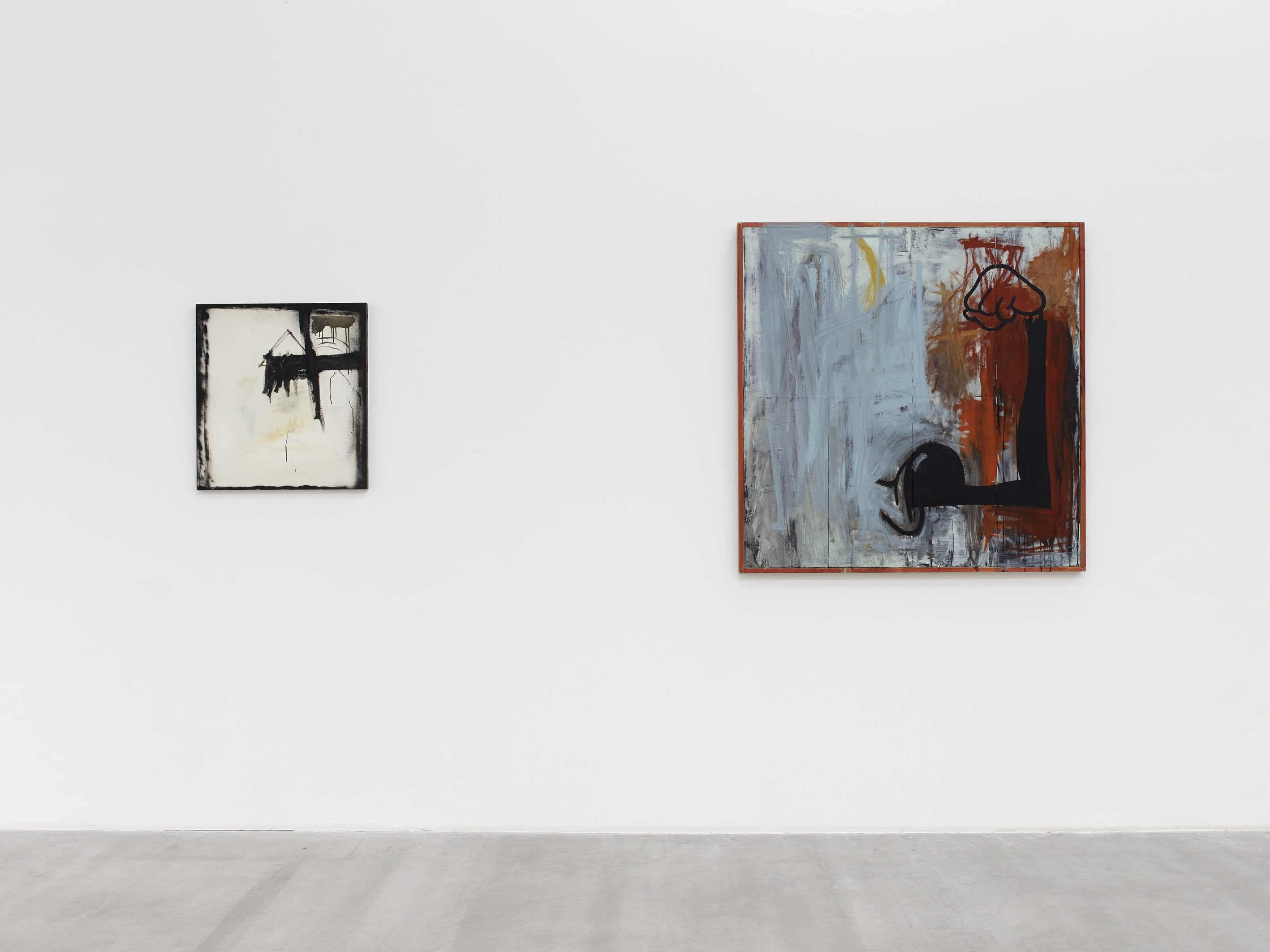 Walter Swennen, Untitled, 1988 and Goofy, 1989