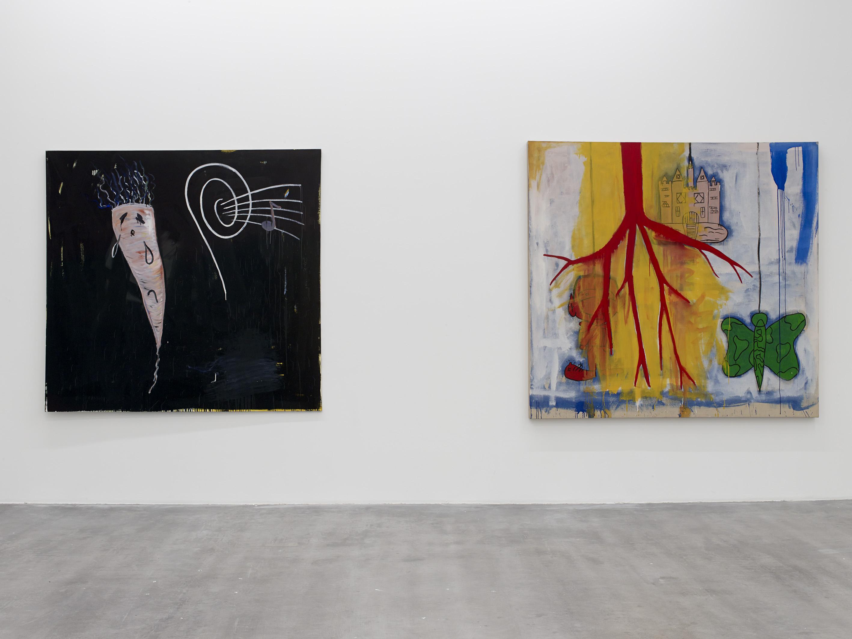 Walter Swennen, Untitled (Légume triste et musique), 1995 and Elsjes Triptiek, 1998