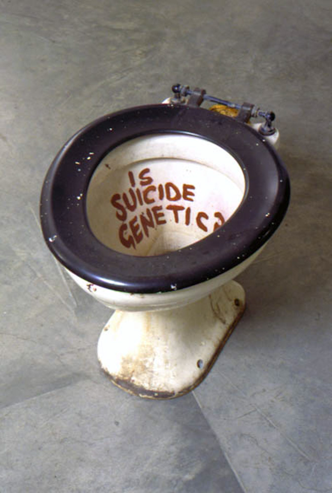 Sarah Lucas, Is Suicide Genetic?